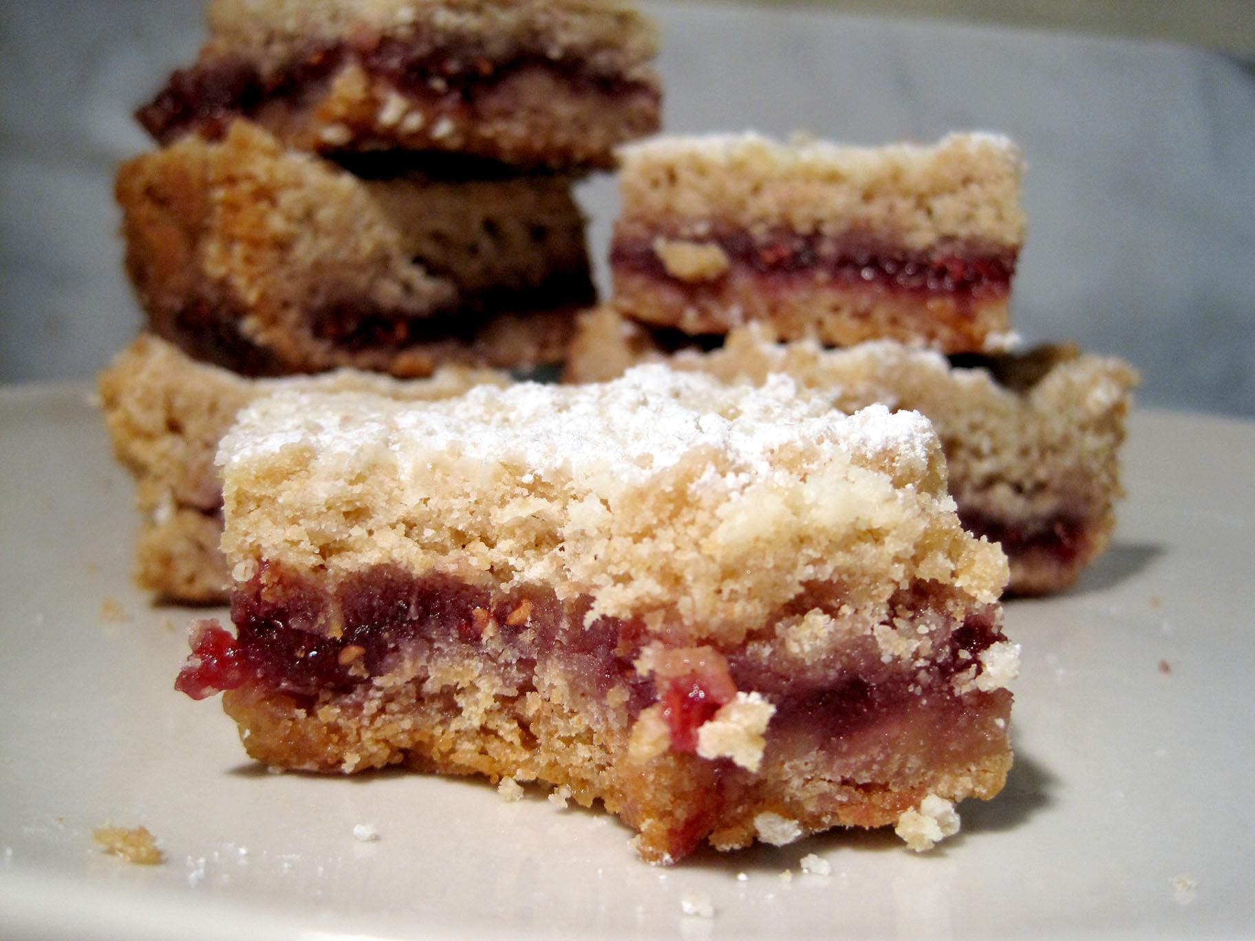Austrian Raspberry Shortbread Bars – Want Dessert